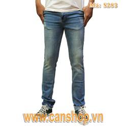 Quần jeans skinny xanh nhạt rách - F283