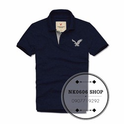 HK.KTY - Áo Polo Nam Logo AMERICAN EAGLE - Màu Xanh Đen - AE2