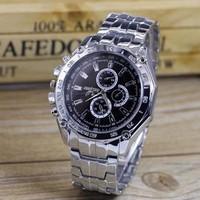 Đồng hồ đeo tay nam, mặt tròn cổ điển, phong cách lịch lãm
