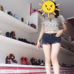 Quần jean short nữ xanh đen lai tua thời trang QSO94