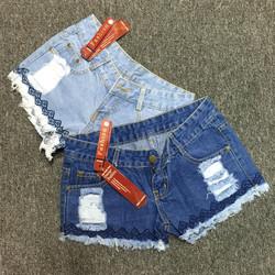 QS 73 - Quần short jeans nữ rách