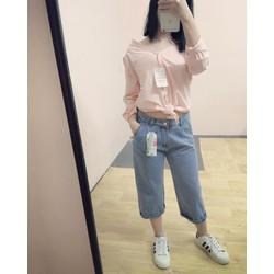 quần jean lửng form rộng