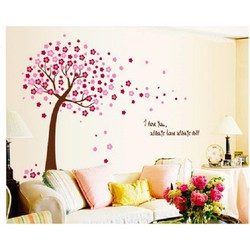 Decal dán tường Cây kỷ niệm hồng