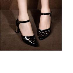 Giày loại 1- giày cao gót quai cắt laze