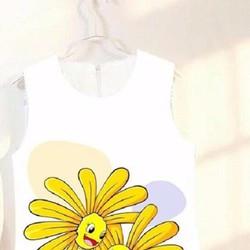 đầm suông in hoa mặt trời