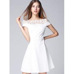 Đầm Xòe Cao Cấp Kiểu Dáng Trễ Vai