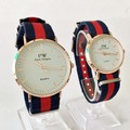 Đồng hồ đôi dây vải dù -dây Nato- màu đỏ, giá 1 đôi