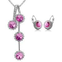 CTSB129_Bộ trang sức đá hồng