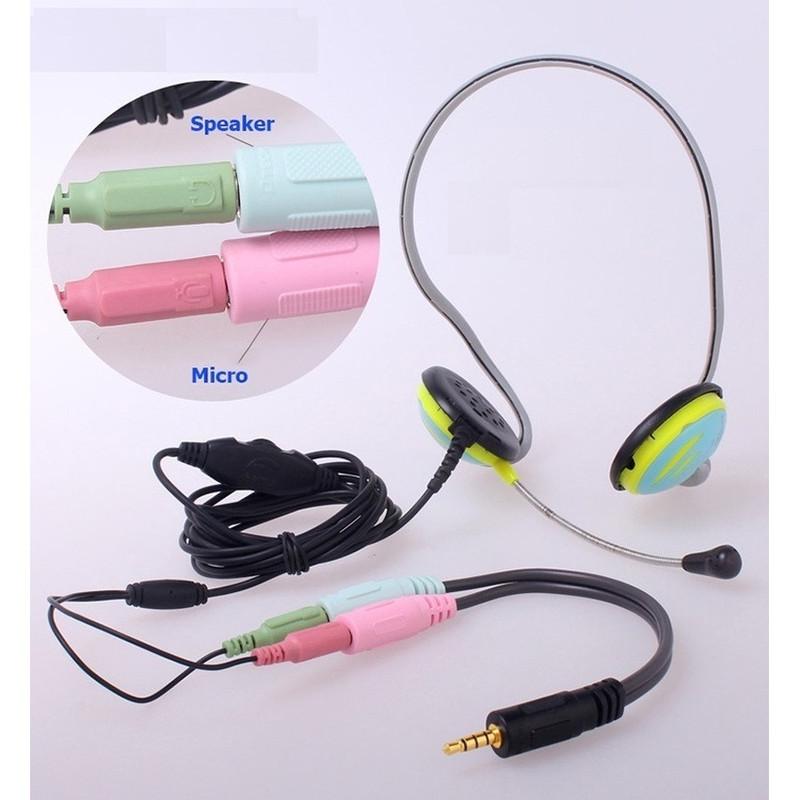 Cáp Chia Mic và Audio cho Điện thoại hát Karaoke 3