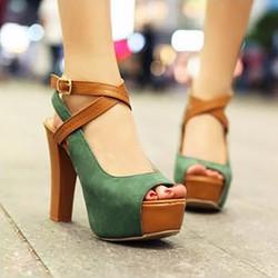 Giày cao gót quai đan chéo thời trang - LN108