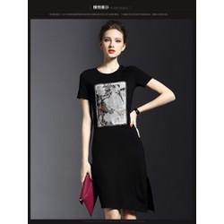 Hàng nhập cao cấp - Đầm suông dài vạt xéo KL08716