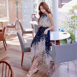 Đầm maxi họa tiết hoa quyến rũ MX573
