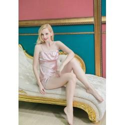 Bộ đồ ngủ màu hồng nhạt TK508 dễ thương