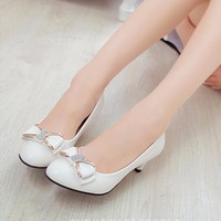 Giày búp bê nơ đính đá xinh xắn - LN110