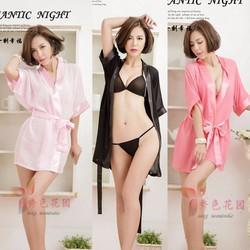 Set choàng ngủ kimono gồm áo choàng và quần lót bên trong TK505