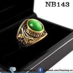Nhẫn đá Mỹ inox cao cấp NB143