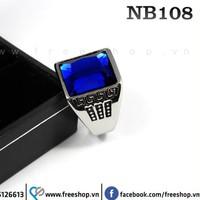 Nhẫn đá nam inox cao cấp NB108