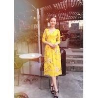 Đầm voan hoa midi siêu xinh 43T
