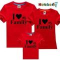 Áo gia đình I Love Family Đỏ-MS1911