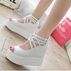 SD153T - Giày Sandal Nữ đế cao cá tính thời trang
