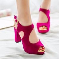 Giày gót vuông thòi trang Ala - LN117