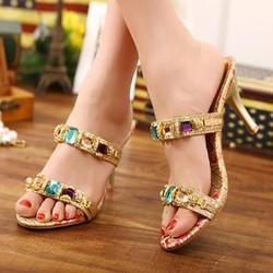 Giày đính đá sang trọng dự tiệc - giày cưới