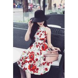 Đầm Xòe Hoa Xinh Xắn