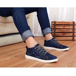 Giày nam bata vải jean rách