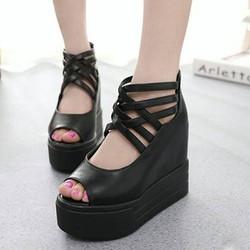 SD153D - Giày Sandal Nữ đế cao cá tính thời trang