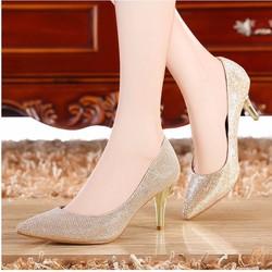 Giày cao gót ánh kim Romana đẳng cấp quyến rũ