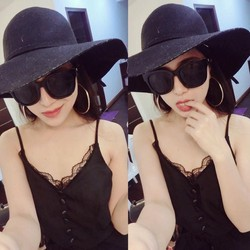 Đầm maxi đen xẻ đùi