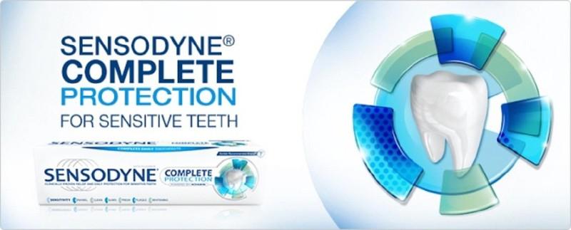 Kem đánh răng Sensodyne Complete Protection 113gr Mỹ 1