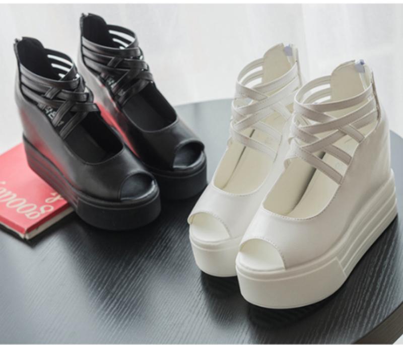 SD153D - Giày Sandal Nữ đế cao cá tính thời trang 1
