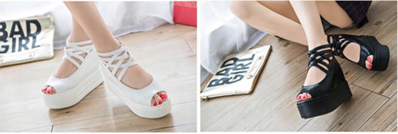 SD153D - Giày Sandal Nữ đế cao cá tính thời trang 4