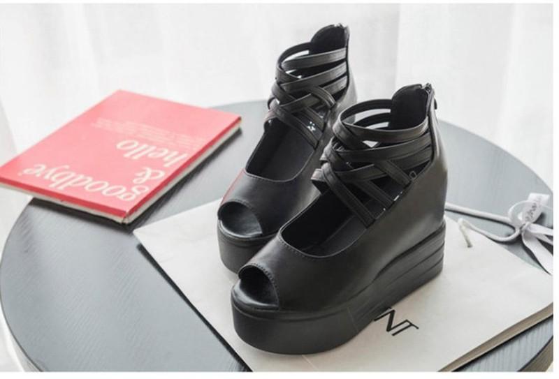 SD153D - Giày Sandal Nữ đế cao cá tính thời trang 2