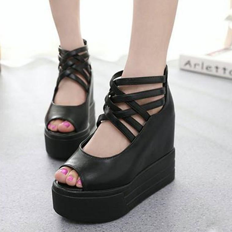 SD153D - Giày Sandal Nữ đế cao cá tính thời trang 5