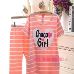 Đồ bộ mặc nhà lửng hình trái tim Choco girl xinh đẹp NN446