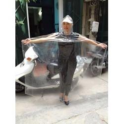 Áo mưa trong suốt nhựa vi sinh