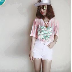 Quần Short Jeans Rách Lai Tua Rua Trắng Đen - Nyn House Shop