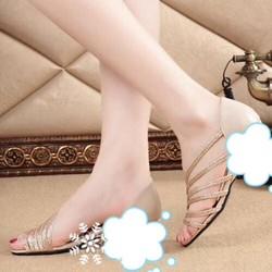 Giày bệt ánh kim T04