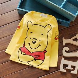 Áo thun tay dài in gấu pooh dễ thương