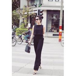 HÀNG CAO CẤP LOẠI I - Sét áo croptop hở lưng + quần ống suông