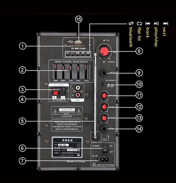 Loa Kéo Temeisheng 297 loa bass siêu trầu 8
