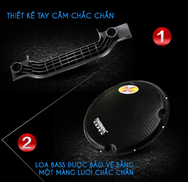Loa Kéo Temeisheng 297 loa bass siêu trầu 3