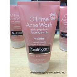 Sữa rửa mặt Neutrogena Oil Free Acne Wash Pink Grapefruit Cream