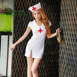 C011 Cosplay y tá bác sĩ gợi cảm thiên sứ trắng