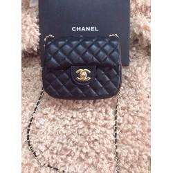Chanel classic mini F2 hàng chất lượng giá rẻ-da sần nhẹ
