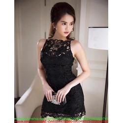 Đầm body ren hoa nổi lót trong sang trọng như Ngọc trinh DOV614