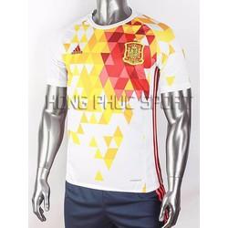 Đồ đá banh tuyển Tây Ban Nha Euro 2016 sân khách màu trắng