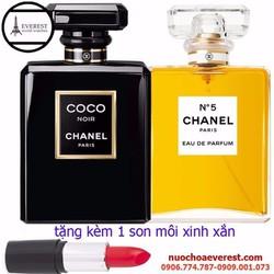 Bộ Nước Hoa Nữ Chanel tặng kèm 1 son môi